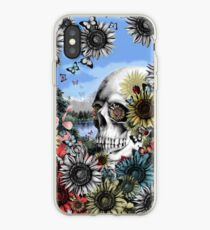 Nature skull landscape iPhone Case