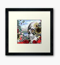 Nature skull landscape Framed Print
