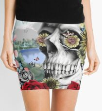 Nature skull landscape Mini Skirt