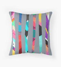 Trees / Grey Throw Pillow