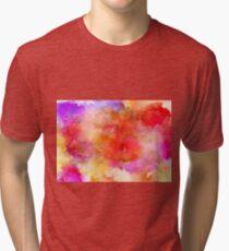 ink style of orange watercolour texture Tri-blend T-Shirt