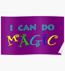 I can do magic, retro, playful, colourful Poster