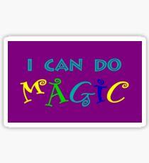 I can do magic, retro, playful, colourful Sticker