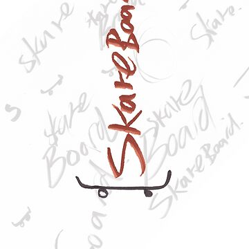 Skateboard Sketch by willarts