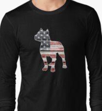 Patriotic Pitbull, American Flag T-Shirt