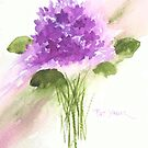 Bouquet of Spring Violets by Pat Yager