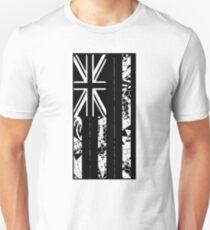 Polynesian Flag of Hawaii - Vertical - BW Unisex T-Shirt