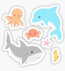 Pegatina Criaturas del mar