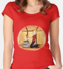 When Calvin will be tall Women's Fitted Scoop T-Shirt