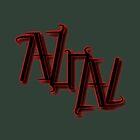 """Azrael"" Ambigram (reversible image) by flatfrog00"