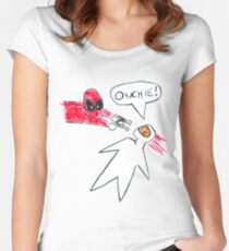 Ouchie! Women's Fitted Scoop T-Shirt