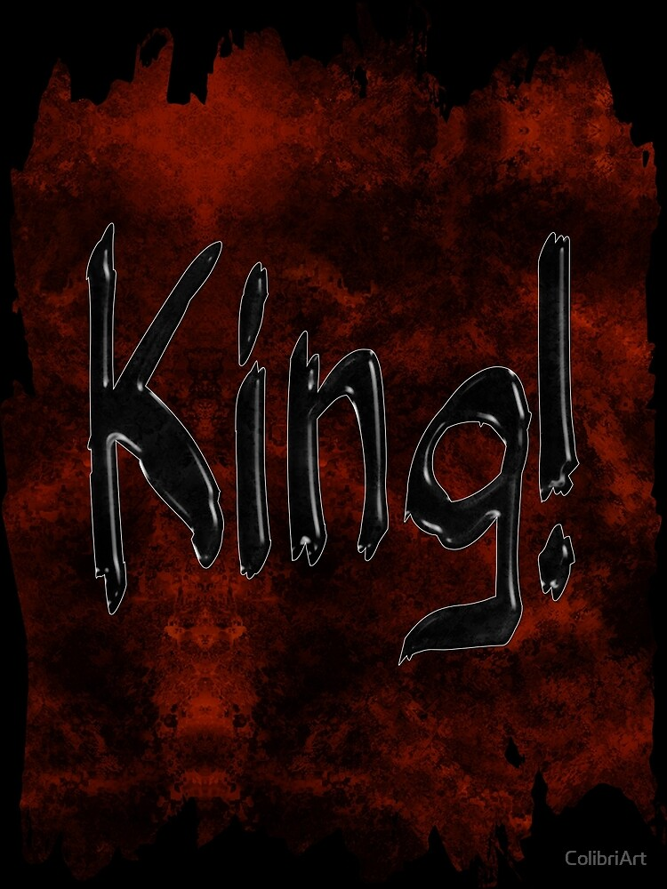 Grunge King Typography by ColibriArt
