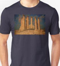 Jordan. Ancient Jerash. Ruins of the Temple. Columns. Unisex T-Shirt