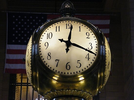 Classic Clock, Grand Central Terminal, New York City by lenspiro