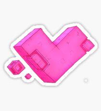 Cubic Heart Sticker