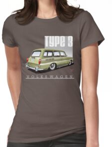 VW Squareback in Safari Beige Womens Fitted T-Shirt