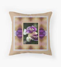In A Twist Corkscrew Flower Throw Pillow