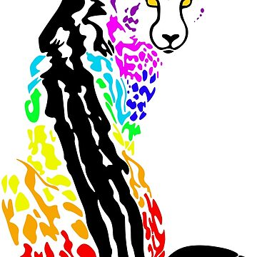 Rainbow King Cheetah by weirdotwin