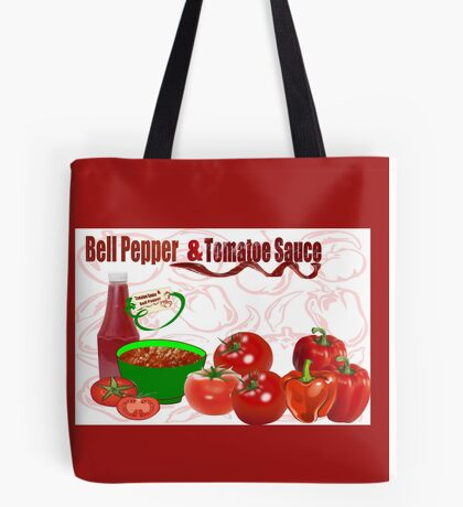 Bell Pepper & Tomato Sauce (4422 Views) Tote Bag