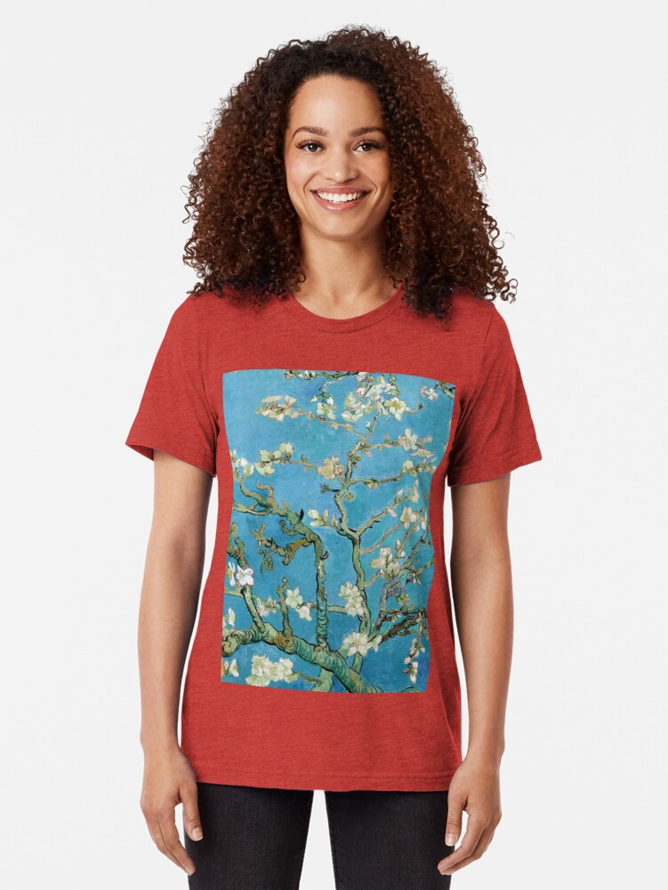 Alternate view of 1890-Vincent van Gogh-Almond blossom-73.5x92 Tri-blend T-Shirt
