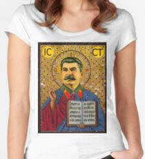 Stalin like GOD Women's Fitted Scoop T-Shirt