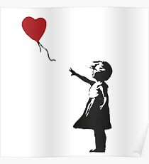 Banksy Heart - ONE:Print Poster