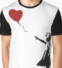 Banksy Heart - ONE:Print Graphic T-Shirt