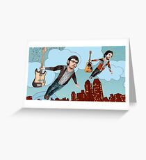 Flight Of The Conchords - Flying Greeting Card
