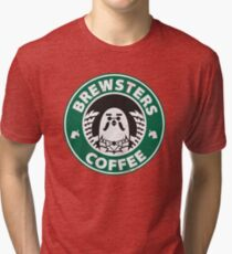 Brewsters Coffee (distressed) Tri-blend T-Shirt