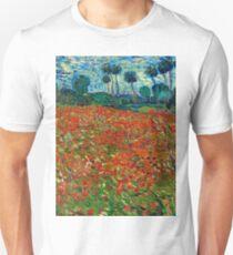 1890-Vincent van Gogh-Poppy field-82,7x102 T-Shirt