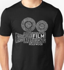 Film Camera Typography - White Unisex T-Shirt