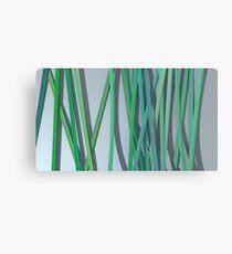 ribbon paper background green Canvas Print