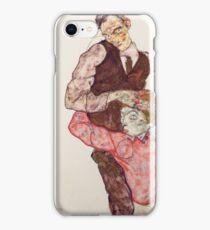 Egon Schiele - Lovers 1914-15 Woman Portrait iPhone Case/Skin