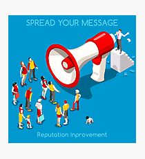 Social Promotion Concept Isometric Photographic Print