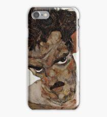 Egon Schiele - Self-Portrait with Lowered Head 1912  Expressionism  Portrait iPhone Case/Skin