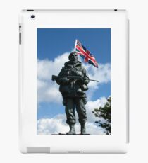 Royal Marines Statue, Portsmouth iPad Case/Skin
