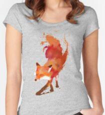 Vulpes Vulpes Tailliertes Rundhals-Shirt