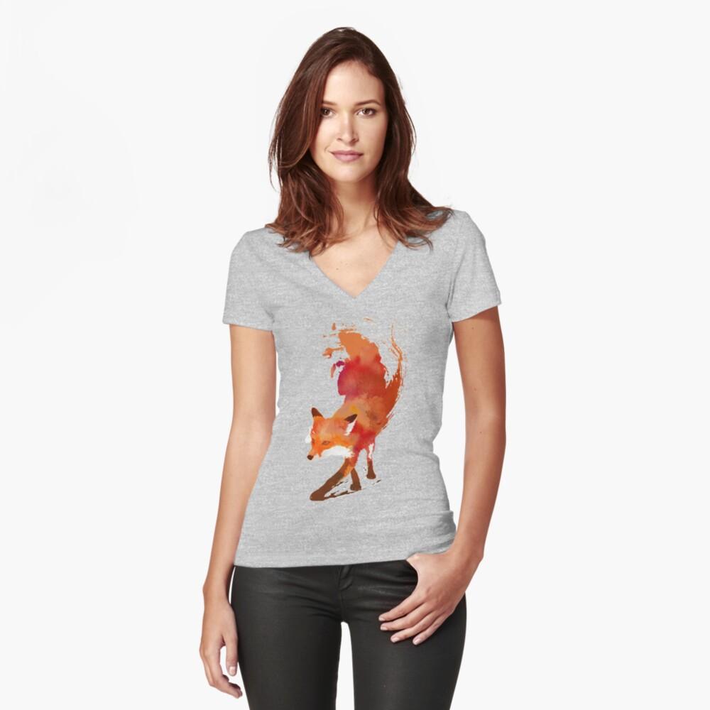 Vulpes Vulpes Shirt mit V-Ausschnitt
