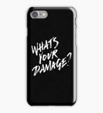 What's Your Damage? - White Text iPhone Case/Skin