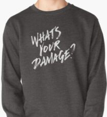 What's Your Damage? - White Text Pullover