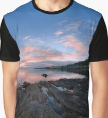Dusk Shoreline near Moville, Donegal (Rectangular) Graphic T-Shirt