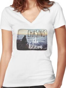 Chasing the Horizon Women's Fitted V-Neck T-Shirt