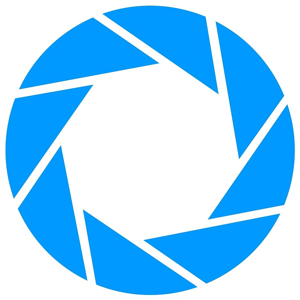 Aperture science logo merch! by Harry Fearns