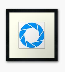 Aperture science logo merch! Framed Print