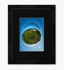 Kinnagoe Bay (as a floating green planet) Framed Print