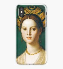 Agnolo Bronzino - A Young Woman and Her Little Boy  1540 Woman Portrait iPhone Case/Skin