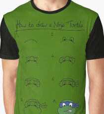 How to draw an ninja turtle - Leo Graphic T-Shirt