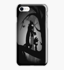 Calvin and Hobbes Horror  iPhone Case/Skin
