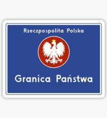 """""""Republic of Poland – National Border"""" Sign, Poland Sticker"""