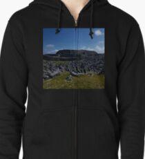 Dun  Aengus Fort, Inishmore, Aran Islands   Zipped Hoodie